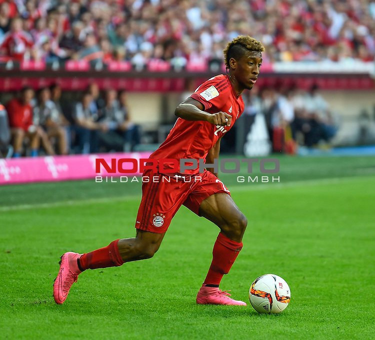 12.09.2015, Allianz Arena, M&uuml;nchen, GER, 1. FBL, FC Bayern M&uuml;nchen vs. FC Augsburg<br /> Kingsley Roman (M&uuml;nchen)<br /> Foto &copy; nordphoto /  Bratic