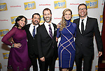 Kristen Anderson-Lopez, James-Allen Ford, Russ Kaplan, Sara Wordsworth and Deke Sharon attends the Broadway Opening Night Performance Press Reception for  'In Transit' at Circle in the Square Theatre on December 11, 2016 in New York City.