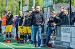 BLOEMENDAAL -  coach Eric Verboom (Den Bosch)  tijdens de hoofdklasse competitiewedstrijd hockey heren,  Bloemendaal-Den Bosch  COPYRIGHT KOEN SUYK