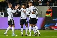 19th November 2019, Frankfurt, Germany; 2020 European Championships qualification, Germany versus Northern Ireland;  Goal celebration for 1:1 by scorer Serge Gnabry