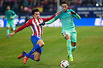 Atletico de Madrid's defender Stefan Savic (L)  and FC Barcelona's forward Neymar Santos Jr (R)  during the match of Copa del Rey between Atletico de  Madrid and Futbol Club Barcelona at Vicente Calderon Stadium in Madrid, Spain. February 1st 2017. (ALTERPHOTOS/Rodrigo Jimenez)
