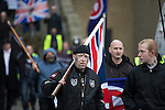 "© Joel Goodman - 07973 332324 . NO SYNDICATION PERMITTED . 21/03/2015 . Newcastle , UK . Neo-Nazis and skinheads from across Europe organise a "" White Man March "" in Newcastle , under the banner of "" National Action "" . Photo credit : Joel Goodman"