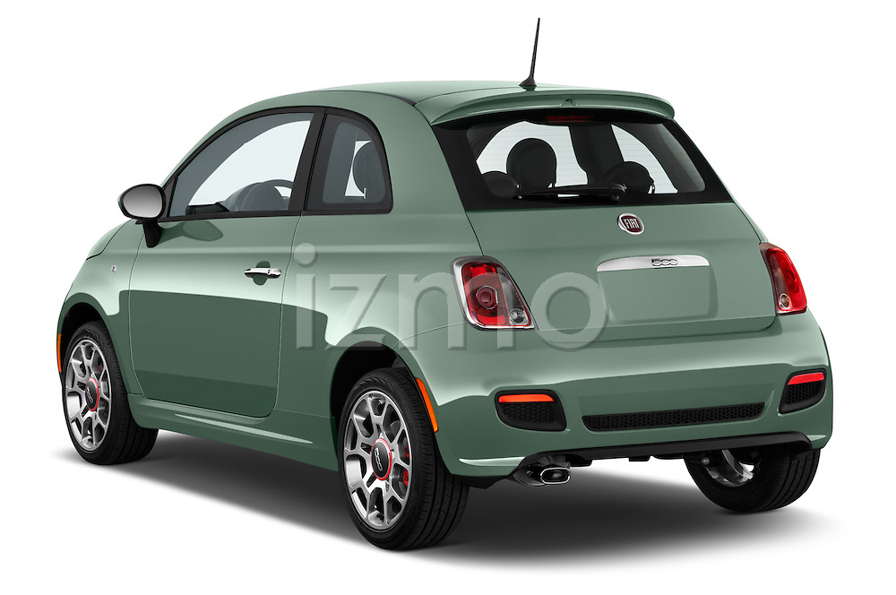 Car pictures of rear three quarter view of a 2015 Fiat 500 Sport Door Hatchback Angular Rear