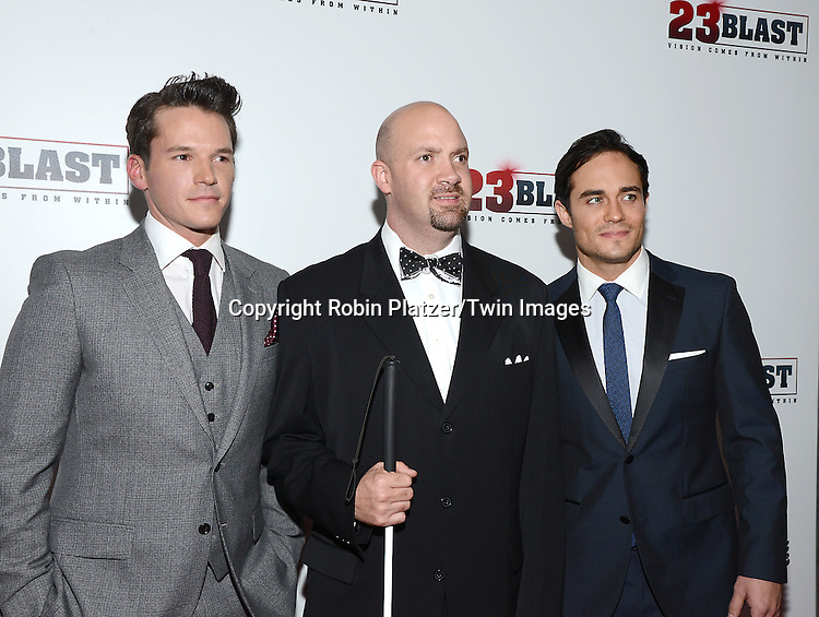 Mark Hapka, Travis Freeman and Bram Hoover attend the &quot;23 Blast&quot;  Movie Premiere  on October 20, 2014 at The Regal Cinemas E-Walk Theater in New York City. <br /> <br /> photo by Robin Platzer/Twin Images<br />  <br /> phone number 212-935-0770