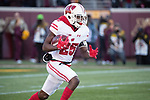 Wisconsin Badgers kick returner Derrick Tindal (25) returns the opening kickoff during an NCAA College Big Ten Conference football game against the Minnesota Golden Gophers Saturday, November 25, 2017, in Minneapolis, Minnesota. (Photo by David Stluka)