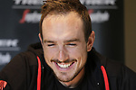 John Degenkolb (GER) Trek-Segafredo outline his hopes for the upcoming Paris-Roubaix race at a press conference in Bruges, Flanders, Belgium. 7th April 2017.<br /> Picture: Eoin Clarke | Cyclefile<br /> <br /> <br /> All photos usage must carry mandatory copyright credit (&copy; Cyclefile | Eoin Clarke)