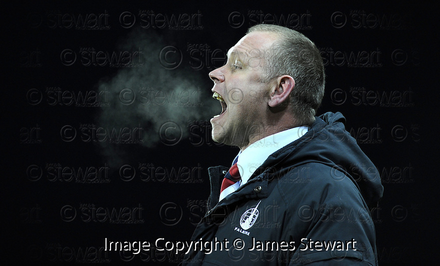06/12/2008  Copyright Pic: James Stewart.File Name : sct_jspa21_falkirk_v_st_mirren.FALKIRK MANAGER JOHN HUGHES SHOUTS HIS INSTRUCTIONS.James Stewart Photo Agency 19 Carronlea Drive, Falkirk. FK2 8DN      Vat Reg No. 607 6932 25.Studio      : +44 (0)1324 611191 .Mobile      : +44 (0)7721 416997.E-mail  :  jim@jspa.co.uk.If you require further information then contact Jim Stewart on any of the numbers above.........