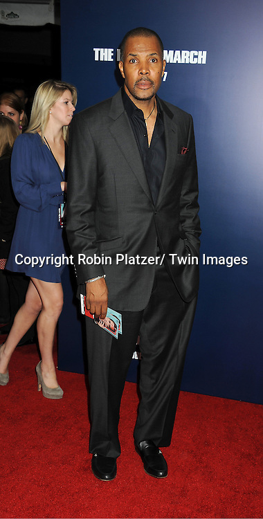"Eriq LaSalle attends the New York Premiere of ""The Ides of March"" ..on October 5, 2011 at The Ziegfeld Theatre in New York City. The movie stars George Clooney, Marisa Tomei, Evan Rachel Wood, Paul Giamatti, Phillip Seymour Hoffman and Jeffrey Wright."