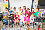 LITTLE STARS: Junior Infants class from Castlegregory national school, enjoying their first day in school on Monday last were front l-r: Cian Gordon Miller, Lorcan O'Connor, Lilly Hennessy, Alanah Whelan, Maura Flynn, Katie Crean and Darren Smith. Back l-r: Ronan Harty, Nathan Staunton, Luke Power, Anna Roberts, Lucy Finn, Dylan Harrington, Hugh Crean and Calvin Griffin.