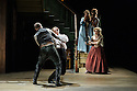 London, UK. 22.05.2015. THE BEAUX' STRATAGEM, by George Farquhar, directed by Simon Godwin, opens in the Olivier, at the National Theatre. Lighting design by Jon Clark, set and costume design by Lizzie Clachan, movement by Jonathan Goddard. Photograph © Jane Hobson.