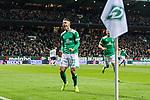 08.03.2019, Weserstadion, Bremen, GER, 1.FBL, Werder Bremen vs FC Schalke 04<br /> <br /> DFL REGULATIONS PROHIBIT ANY USE OF PHOTOGRAPHS AS IMAGE SEQUENCES AND/OR QUASI-VIDEO.<br /> <br /> im Bild / picture shows<br /> Jubel 1:1, Milot Rashica (Werder Bremen #11) bejubelt seinen Treffer zum 1:1 mit Jubelfaust, <br /> <br /> Foto &copy; nordphoto / Ewert