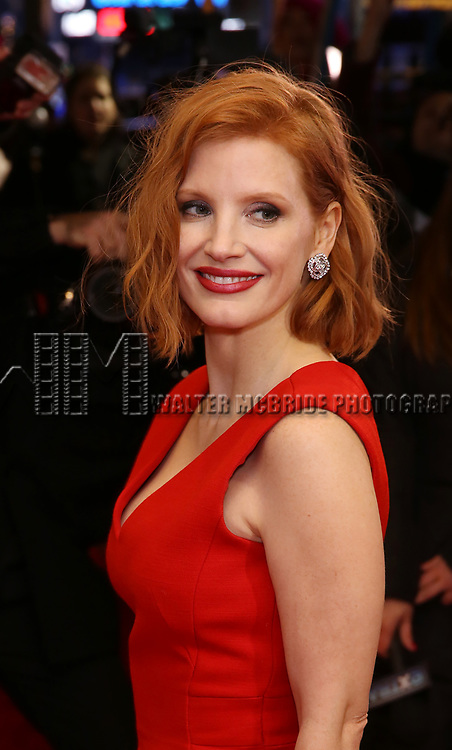 """Jessica Chastain attends the Broadway Opening Night Performance of """"To Kill A Mockingbird"""" on December 13, 2018 at The Shubert Theatre in New York City."""