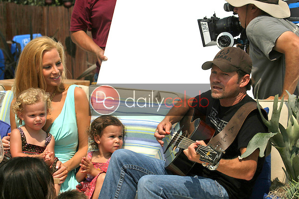 Cindy Margolis and family with Alex Woodard<br />