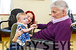 Jeremiah Sheehy from Duagh, who is a resident in the Oaklands Nurshing Home in Listowel, meets his great grand daughter Demi Stryker for the first time on Tuesday with her mom Taylor Sheehy.