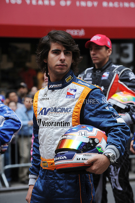WWW.ACEPIXS.COM . . . . . ....May 17 2009, New York City....Mario Moraes....Indianapolis 500 racecar drivers  line up outside Macy's in Herald Square in the traditional 11 rows of three on May 18 2009 in New York City.......Please byline: KRISTIN CALLAHAN - ACEPIXS.COM.. . . . . . ..Ace Pictures, Inc:  ..tel: (212) 243 8787 or (646) 769 0430..e-mail: info@acepixs.com..web: http://www.acepixs.com