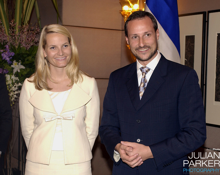Crown Prince Haakon & Crown Princess Mette-Marit of Norway's visit to Thailand..Press conference at the Conrad Hotel, Bangkok..