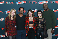NEW YORK, NY - OCTOBER 7: Kathryn Morris, Sendhil Ramamurthy, Sarah Shahi, Jessica Lu and Dennis Haysbert at NBC&rsquo;S new midseason  drama &ldquo;REVERIE&rdquo; at New York Comic Con on October 7, 2017 in New York City.   <br /> CAP/MPI/DC<br /> &copy;DC/MPI/Capital Pictures