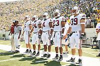 2 September 2006: (L-R) Trent Edwards, Trevor Hooper, Mark Bradford, Brandon Harrison, Nick Frank during Stanford's 48-10 loss to the Oregon Ducks at Autzen Stadium in Eugene, OR.