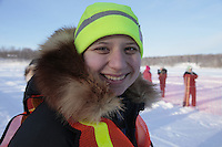 Saturday February 25, 2012   at Knik Lake during the Junior Iditarod start.  Melissa Owens.