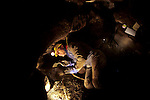 Who were the first Americans, Timothy Heaton, excavating, On your Knees Cave, Prince of Wales Island, Alaska.