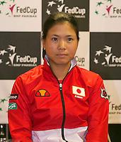 The Netherlands, Den Bosch, 16.04.2014. Fed Cup Netherlands-Japan, Press-conference Japanese team, Risa OZAKI<br /> Photo:Tennisimages/Henk Koster