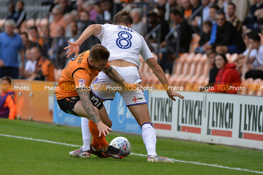 Elliot Johnson of Barnet gets injured  during Barnet vs Luton Town, Sky Bet EFL League 2 Football at the Hive Stadium on 12th August 2017