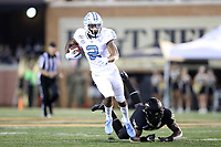 WINSTON-SALEM, NC - SEPTEMBER 13: Dyami Brown #2 of the University of North Carolina runs the ball during a game between University of North Carolina and Wake Forest University at BB