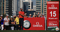 Joost Luiten (NED) in action during the Final Round of the 2016 Omega Dubai Desert Classic, played on the Emirates Golf Club, Dubai, United Arab Emirates.  07/02/2016. Picture: Golffile | David Lloyd<br /> <br /> All photos usage must carry mandatory copyright credit (&copy; Golffile | David Lloyd)