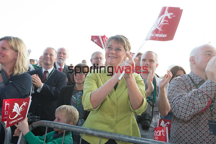 Glasgow 2014 Comonwealth Games<br /> Team Wales reception<br /> Leanne Wood<br /> Senedd<br /> 10.09.14<br /> &copy;Steve Pope-SPORTINGWALES