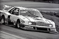 Bobby Rahal drives the Ford Mustang Turbo entered by Team Zakspeed Roush in the 1983 IMSA race at Road Atlanta, Braselton, Georgia, USA.