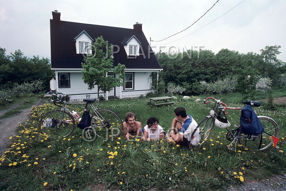 Ile D'Orleans, Quebec City Area, Canada, June 8, 1984. Little break in the nature.