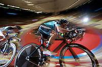 Iljo Keisse (BEL) &amp; Wim Stroetinga (NLD) in a speed lap<br /> <br /> Gent6 2013
