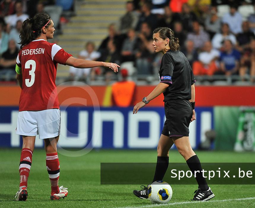 Norway - Denmark : Kateryna Monzul (rechts) en Katrine Sondergaard Pedersen (3)<br /> foto David Catry / nikonpro.be