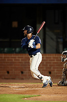 Mobile BayBears Zach Houchins (5) at bat during a Southern League game against the Jacksonville Jumbo Shrimp on May 7, 2019 at Hank Aaron Stadium in Mobile, Alabama.  Mobile defeated Jacksonville 2-0.  (Mike Janes/Four Seam Images)