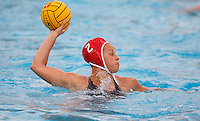 Stanford - February 1, 2015: Dani Jackovich during the Stanford vs UCLA title match of the 2015 Stanford Invitational at Avery Aquatic Center on Sunday afternoon.<br /> <br /> The Cardinal defeated the Bruins 9-5.