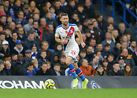 9th November 2019; Stamford Bridge, London, England; English Premier League Football, Chelsea versus Crystal Palace; Gary Cahill of Crystal Palace brings the ball out of defence - Strictly Editorial Use Only. No use with unauthorized audio, video, data, fixture lists, club/league logos or 'live' services. Online in-match use limited to 120 images, no video emulation. No use in betting, games or single club/league/player publications