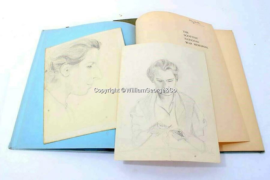 BNPS.co.uk (01202 558833)<br /> Pic: WilliamGeorge&Co/BNPS<br /> <br /> Two charming sketches purported to be the work of Queen Elizabeth II when she was a child have come to light.<br /> <br /> One pencil sketch shows the profile of a lady while the other is of the same person knitting.<br /> <br /> The woman is believed to be Marion Crawford, the nanny to Elizabeth and Margaret who served in Buckingham Palace from 1932 to 1947.