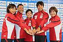 (L to R) Mariko Adachi (JPN), Hirokatsu Tayama (JPN), Ai Ueda (JPN), Yuichi Hosoda (JPN), Juri Ide (JPN), June, 2012 - Triathlon : Japanese Triathlon  team member ateend press conference about the London 2012 Summer Olympic Games in Tokyo, Japan. (Photo by Yusuke Nakanishi/AFLO SPORT) [1090]