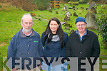 A 12-month research project to record and map Kilgarvan's three burial grounds is now underway. .L-R Tadhg Donoghue, archaeologist Orna Kelleher and Dermot Twomey.