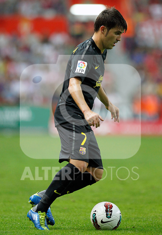 FC Barcelona's David Villa during La Liga match.October 2,2011. (ALTERPHOTOS/Acero)