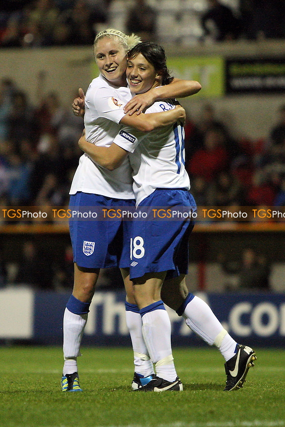 England celebrate their fourth goal - England Women vs Slovenia Women - European Championship Qualifying Match at the County Ground, Swindon Town FC - 22/09/11 - MANDATORY CREDIT: Gavin Ellis/TGSPHOTO - Self billing applies where appropriate - 0845 094 6026 - contact@tgsphoto.co.uk - NO UNPAID USE.