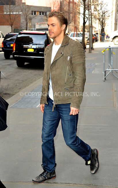 WWW.ACEPIXS.COM<br /> <br /> March 25 2015, New York City<br /> <br /> Dancer Derek Hough made an appearance at 'The View' on March 25 2015 in New York City<br /> <br /> By Line: Curtis Means/ACE Pictures<br /> <br /> <br /> ACE Pictures, Inc.<br /> tel: 646 769 0430<br /> Email: info@acepixs.com<br /> www.acepixs.com