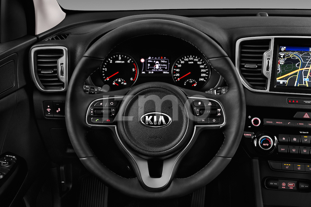 Car pictures of steering wheel view of a 2016 KIA Sportage Sense 5 Door Suv Steering Wheel