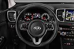 Car pictures of steering wheel view of a 2016 KIA Sportage Sense 5 Door Suv Steering Wheel