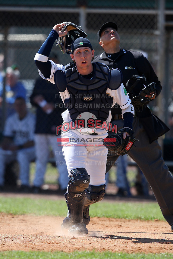 February 28, 2010:  Catcher Cameron McConnell of the Notre Dame Fighting Irish during the Big East/Big 10 Challenge at Raymond Naimoli Complex in St. Petersburg, FL.  Photo By Mike Janes/Four Seam Images