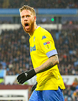 Leeds United's Pontus Jansson celebrates scoring his side's equalising goal to make the score 2-2<br /> <br /> Photographer Alex Dodd/CameraSport<br /> <br /> The EFL Sky Bet Championship - Aston Villa v Leeds United - Sunday 23rd December 2018 - Villa Park - Birmingham<br /> <br /> World Copyright &copy; 2018 CameraSport. All rights reserved. 43 Linden Ave. Countesthorpe. Leicester. England. LE8 5PG - Tel: +44 (0) 116 277 4147 - admin@camerasport.com - www.camerasport.com