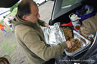 Making pulled pork sandwiches at the Outlaw Music Festival 16 June 2019