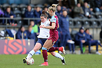 Alisha Lehmann of West Ham United women and Emma Mitchell of Tottenham Hotspur women during Tottenham Hotspur Women vs West Ham United Women, Barclays FA Women's Super League Football at the Hive Stadium on 12th January 2020