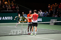 Rotterdam, The Netherlands, 16 Februari 2019, ABNAMRO World Tennis Tournament, Ahoy, Semis, Gael Monfils (FRA) winner - Daniil Medvedev (RUS),<br /> Photo: www.tennisimages.com/Henk Koster