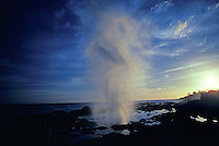 Spouting horn at sunset, Kauai